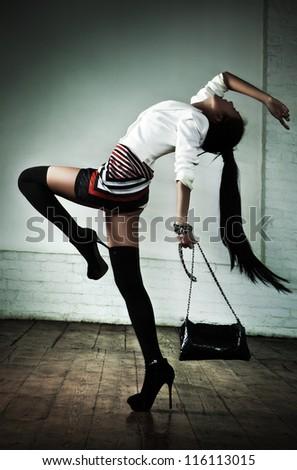 Young sexy japanese woman fashion. - stock photo