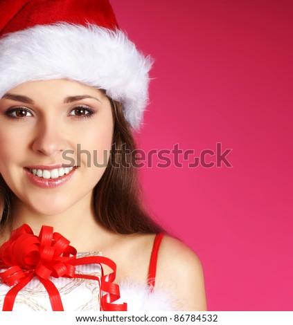 Young sexy Santa - stock photo