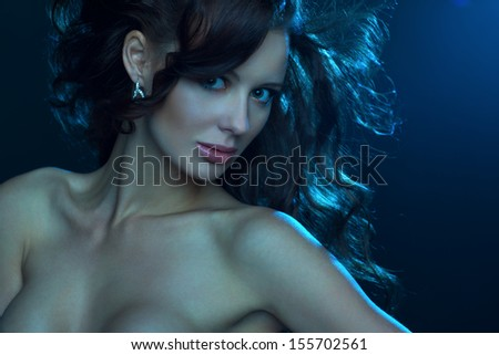 Young sexy woman portrait.