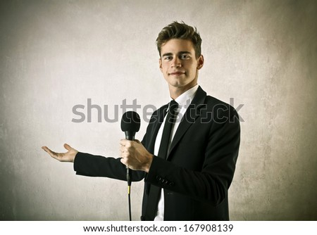 Young Showman - stock photo