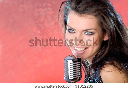 Young singer girl