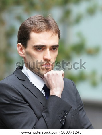Young smart business man - stock photo