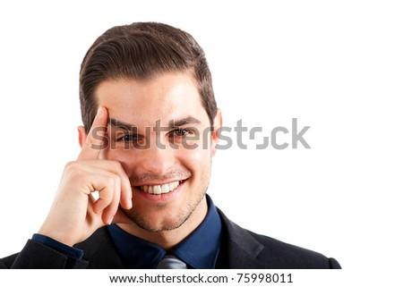 Young smart businessman portrait - stock photo