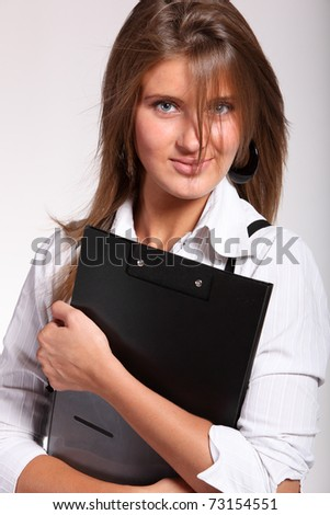Young smile business woman - stock photo