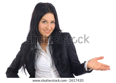 Young smiling business woman. - stock photo