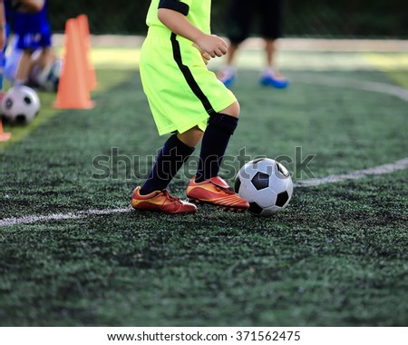 young soccer on training - stock photo