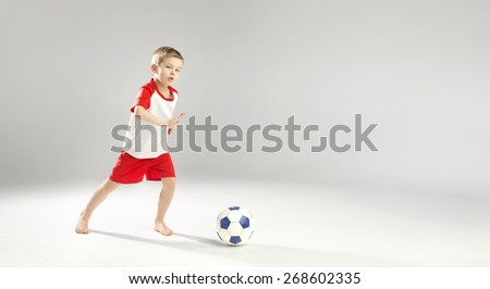 Young soccer player - stock photo