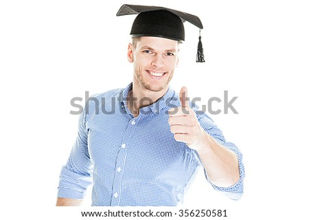 Young Student got his diploma