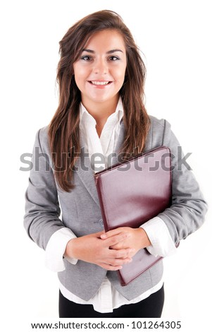 Young student or business woman - stock photo