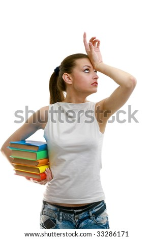 Young student woman - stock photo