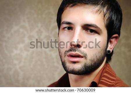 Young stylish man portrait - stock photo