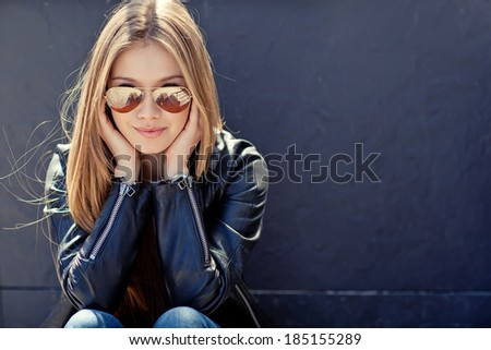 Young stylish woman - stock photo