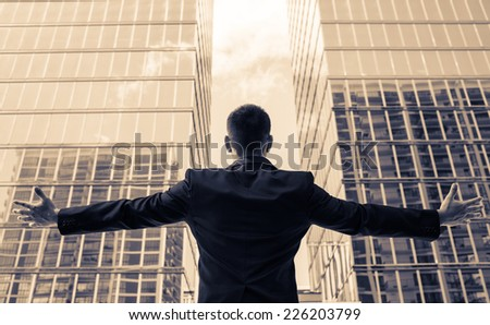 Young successful business man - stock photo