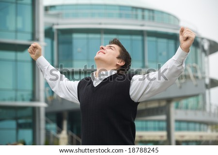 young successful businessman - stock photo