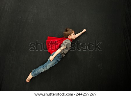 Young superhero - stock photo