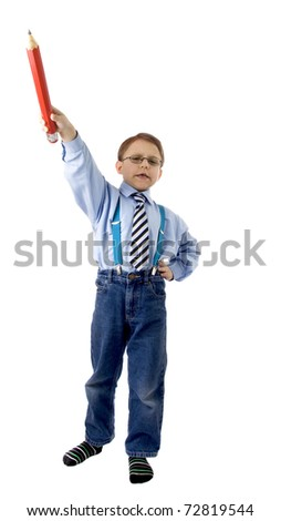 Young teacher - stock photo