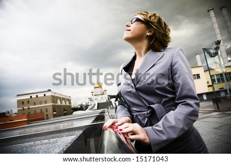 Young Urban Businesswoman On The Street - stock photo