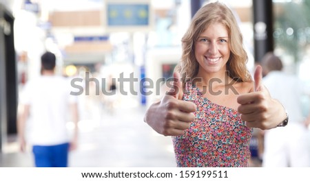 young woman all right gesture - stock photo