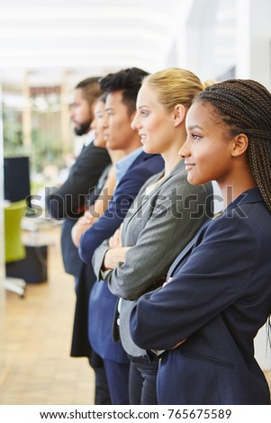 Young woman as student during trainee in consulting agency
