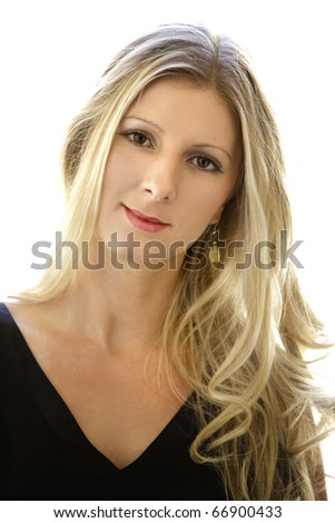 young woman at home - stock photo