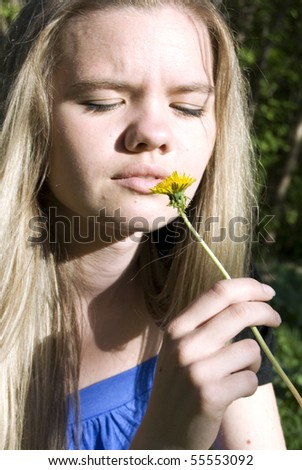 Young woman at park - stock photo