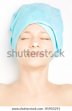 Young woman at spa procedures