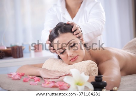 young woman beauty treatment concept - stock photo