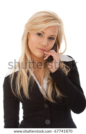 Young woman calling - stock photo
