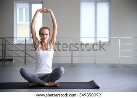 Young woman do yoga - meditation - stock photo