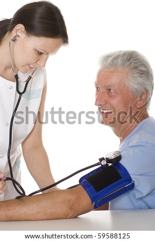 young woman doctor it measures the pressure