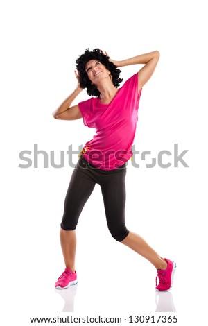 young woman doing sports dancing - stock photo
