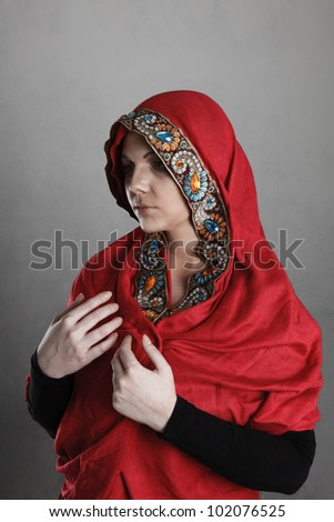 Young woman dressed in clothing of the Orthodox Nuns