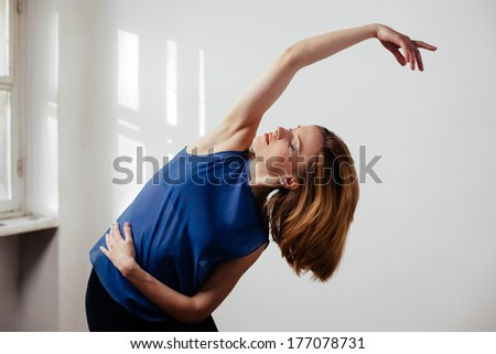 Young woman exercise ballet