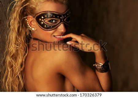 Young woman fashion portrait. - stock photo