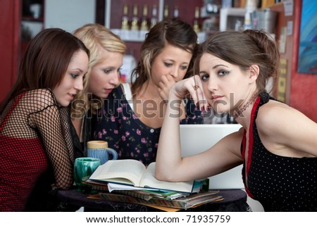 Young woman frustrated with her friends refusal to study with her.