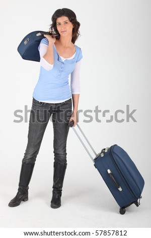 Young woman going on holidays