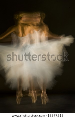 Young woman in ballet - stock photo