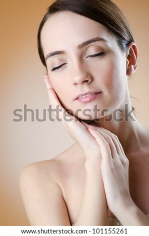 Young woman in glamour shoot - stock photo