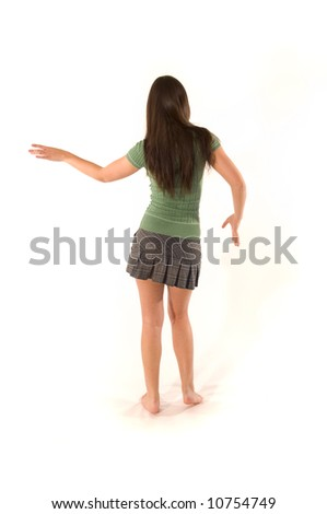 Young woman in skirt - stock photo
