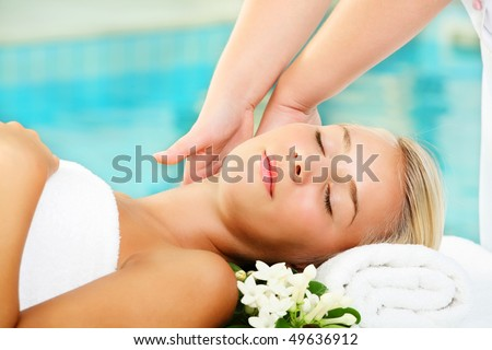 Young Woman In Spa - stock photo