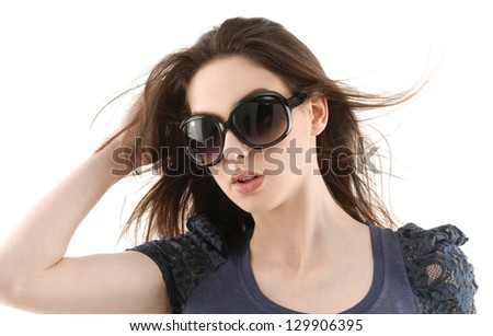 Young Woman in sunglasses portrait - stock photo