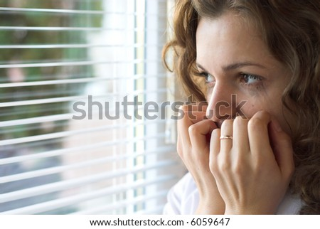 Young woman is in the fair about her future - stock photo