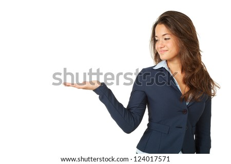 young woman, isolated on white background