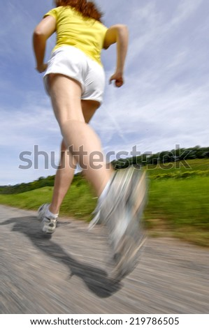 Young woman jogging                             - stock photo