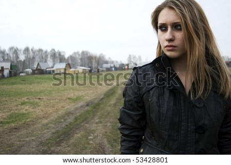 Young woman leaving native place