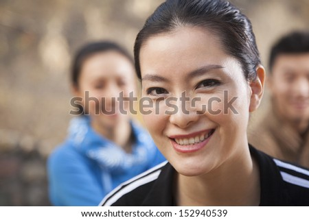 Young woman looking at the camera, portrait - stock photo