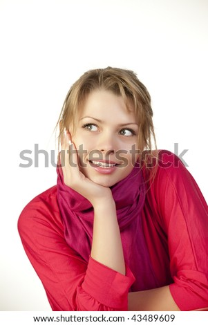 Young woman looking away - stock photo