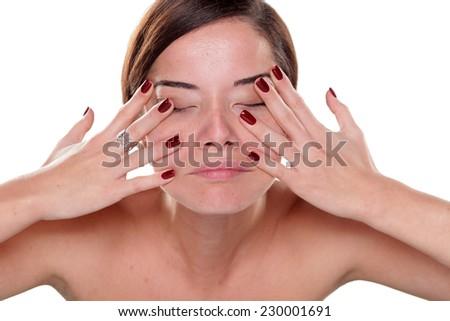 massaging her bottom