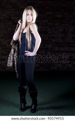 young woman model