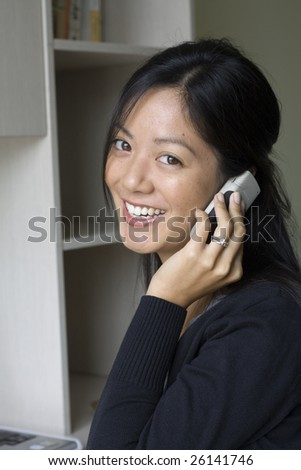 Young woman on a cell phone